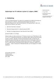 Oplysninger om børn og tv-reklamer vedr 2008 _3 ... - Kulturstyrelsen
