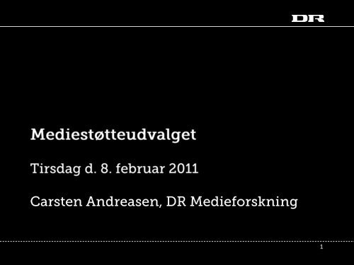 Danskernes brug af medier - Kulturstyrelsen