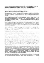 Rammeaftale mellem Statens Kunstråds ... - Kulturstyrelsen