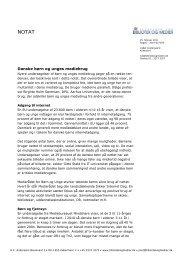 Notat om danske børn og unges medieforbrug _2_x - Kulturstyrelsen