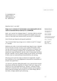 Klage over tv-reklame for hjemmesiden www - Kulturstyrelsen