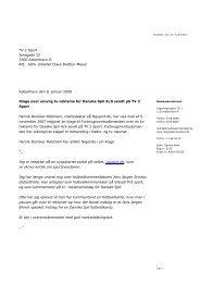 Afgørelse om reklame for Danske Spil A/S sendt på - Kulturstyrelsen