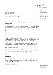 Klage over skjult reklame for Wittrup Motel i tv ... - Kulturstyrelsen