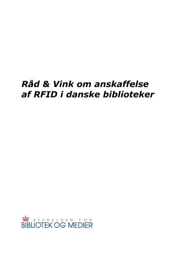 Hent RÃ¥d & Vink om anskaffelse af RFID - Kulturstyrelsen