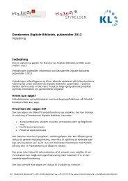 Vejledning til Danskernes Digitale Bibliotek ... - Kulturstyrelsen