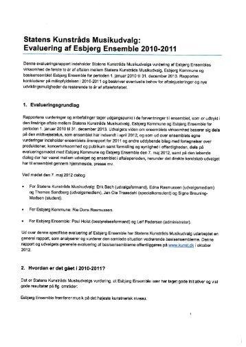 Evaluering af Esbjerg Ensemble - Kunst.dk
