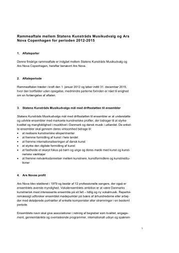Ars Nova 2012-2015 - Kulturstyrelsen