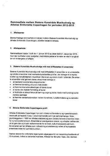 Athelas Sinfonietta Copenhagen 2012-2015 - Kulturstyrelsen