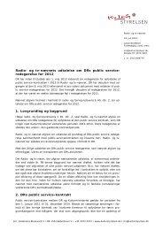 Radio- og tv-nævnets udtalelse om DRs public ... - Kulturstyrelsen
