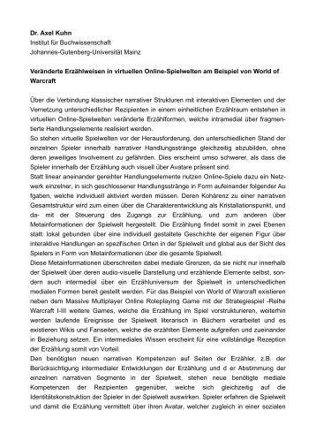 lebenslauf dr axel kuhn institut fr buchwissenschaft johannes gutenberg - Johannes Gutenberg Lebenslauf