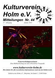 Kulturverein Holm eV Mitteilungen Nr. 44