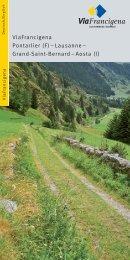 Flyer ViaFrancigena - Kulturwege Schweiz