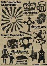 Weitere Informationen zu den Veranstaltungen der Sempacher ...