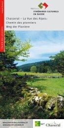 Weg der Pioniere - Kulturwege Schweiz
