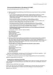 Protokoll - Kulturwirtschaft – Culture & Creative Industries in Germany