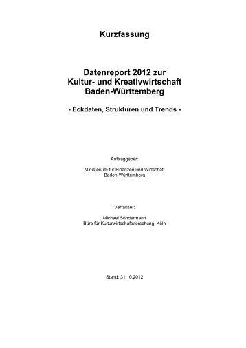 Datenreport 2012 zur Kultur- und Kreativwirtschaft Baden ...