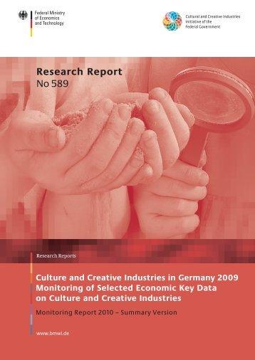 Research Report No 589 - Kulturwirtschaft – Culture & Creative ...