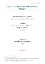 Kultur- und Kreativwirtschaftsbericht (Kurzfassung) - Bayerisches ...