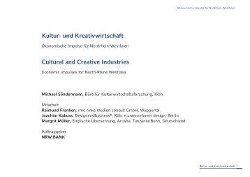 Kultur- und Kreativwirtschaft Cultural and Creative Industries