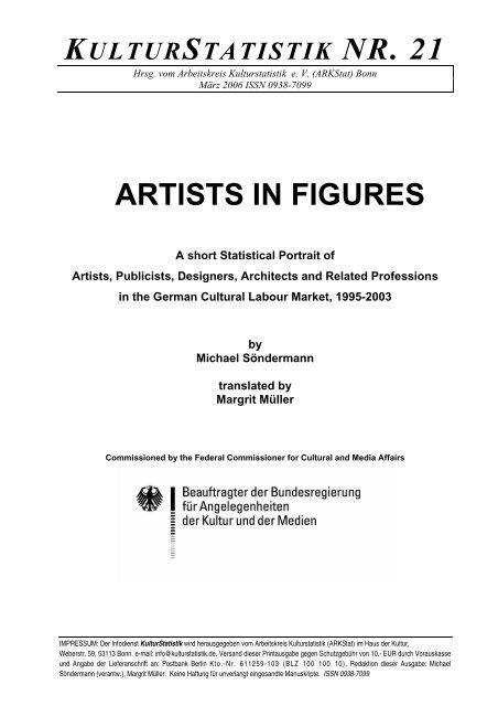 ARTISTS IN FIGURES - Kulturwirtschaft – Culture & Creative ...