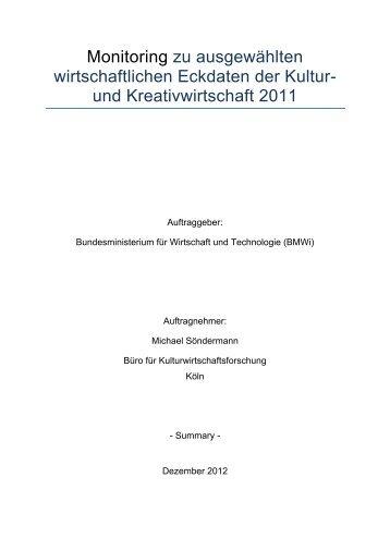 Kurzfassung - Kulturwirtschaft – Culture & Creative Industries in ...