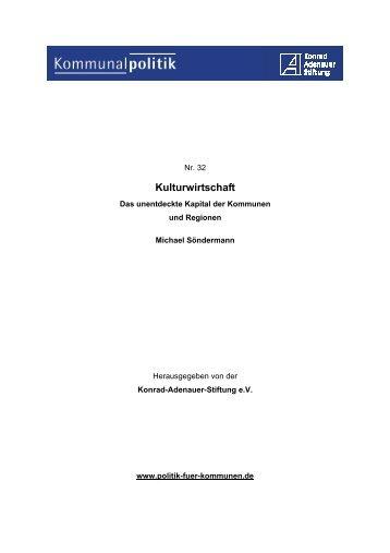 Kulturwirtschaft - Konrad-Adenauer-Stiftung