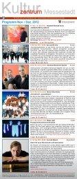 Programm Nov. / Dez. 2012 - Kulturzentrum Messestadt