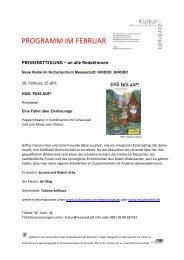 PROGRAMM IM FEBRUAR! - Kulturzentrum Messestadt