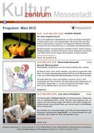 Programm März 2012 - Kulturzentrum Messestadt