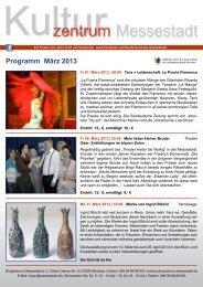 Programm März 2013 - Kulturzentrum Messestadt