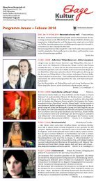 Programm Januar + Februar 2014 - Kulturzentrum Messestadt