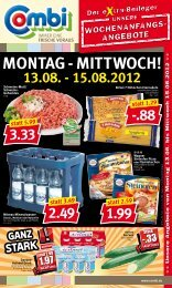 MONtag - MIttWOCH! 13.08. - 15.08.2012 - Combi