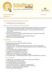 SchulNews online - Ministerium für Kultus, Jugend und Sport