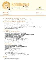 SchulNews online 42, Mai/Juni - Ministerium für Kultus, Jugend und ...