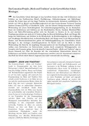 """Das Comenius-Projekt """"Mode und Tradition"""" an ... - Zum Kultusportal"""