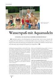 Wasserspaß mit Aquanudeln