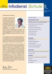 Infodienst Schule 5 / Juni 2001 - Zum Kultusportal