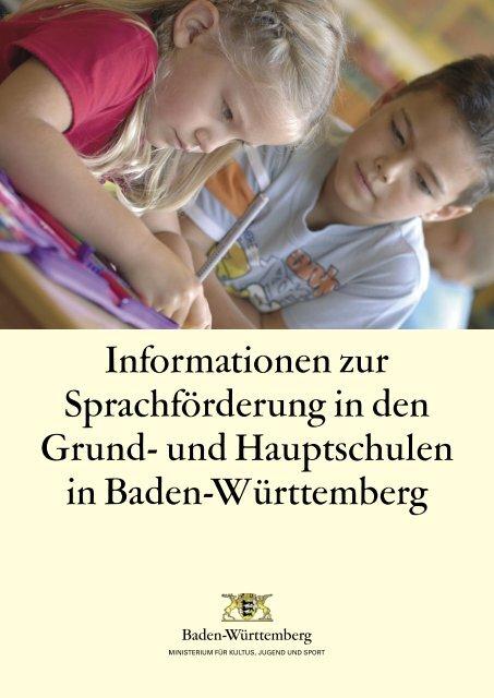 Informationen zur Sprachförderung in den Grund ... - Zum Kultusportal