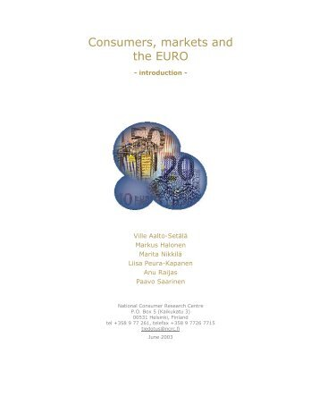 Consumers, markets and the EURO
