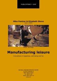 2005 01 Manufacturing leisure - Kuluttajatutkimuskeskus