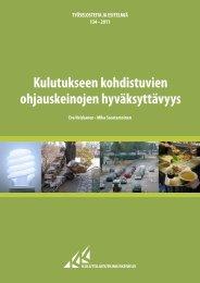 Kulutukseen kohdistuvien ohjauskeinojen hyväksyttävyys (pdf)