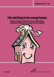 Life and living in low energy houses (pdf)