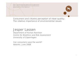 Jesper Lassen - Kuluttajatutkimuskeskus