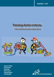 Palveluja kotiin verkosta - Kuluttajatutkimuskeskus