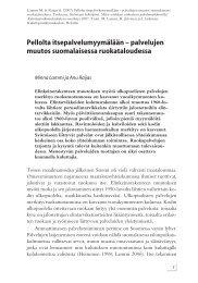 Pellolta itsepalvelumyymälään – palvelujen muutos suomalaisessa ...