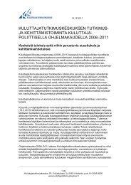 kuluttajatutkimuskeskuksen tutkimus - Kuluttajatutkimuskeskus