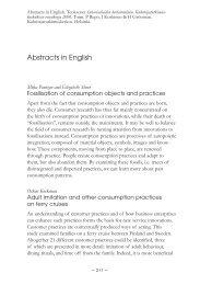 Abstracts in English - Kuluttajatutkimuskeskus