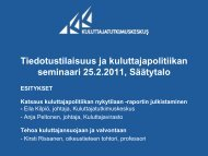 Esitykset (pdf) - Kuluttajatutkimuskeskus