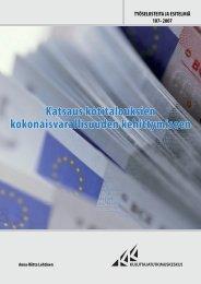 Katsaus kotitalouksien kokonaisvarallisuuden kehittymiseen (pdf)