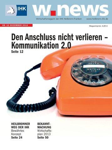Kommunikation im Unternehmen | w.news 12.2012